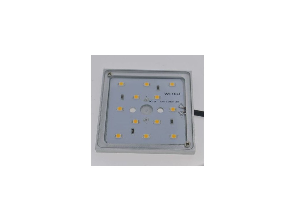 Světlo LED SQUARE CRYSTAL 2,5W bílá teplá (vrut/3M)