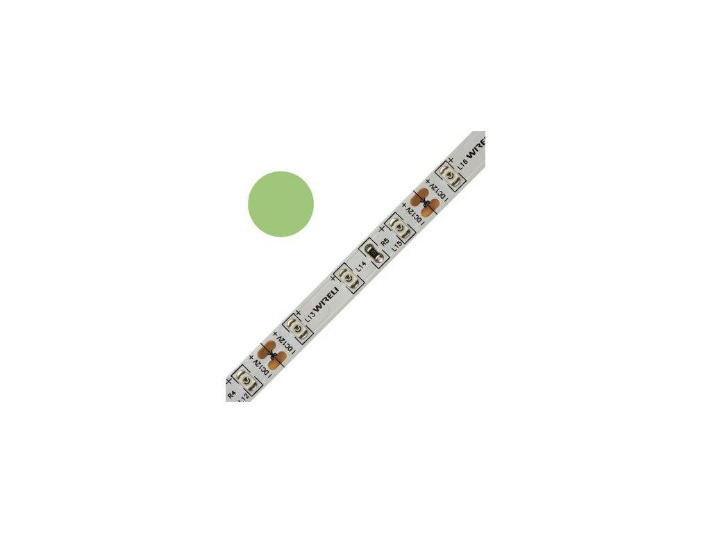 LED pásek barevný 3528 60 525nm 4,8W 0,4A zelená
