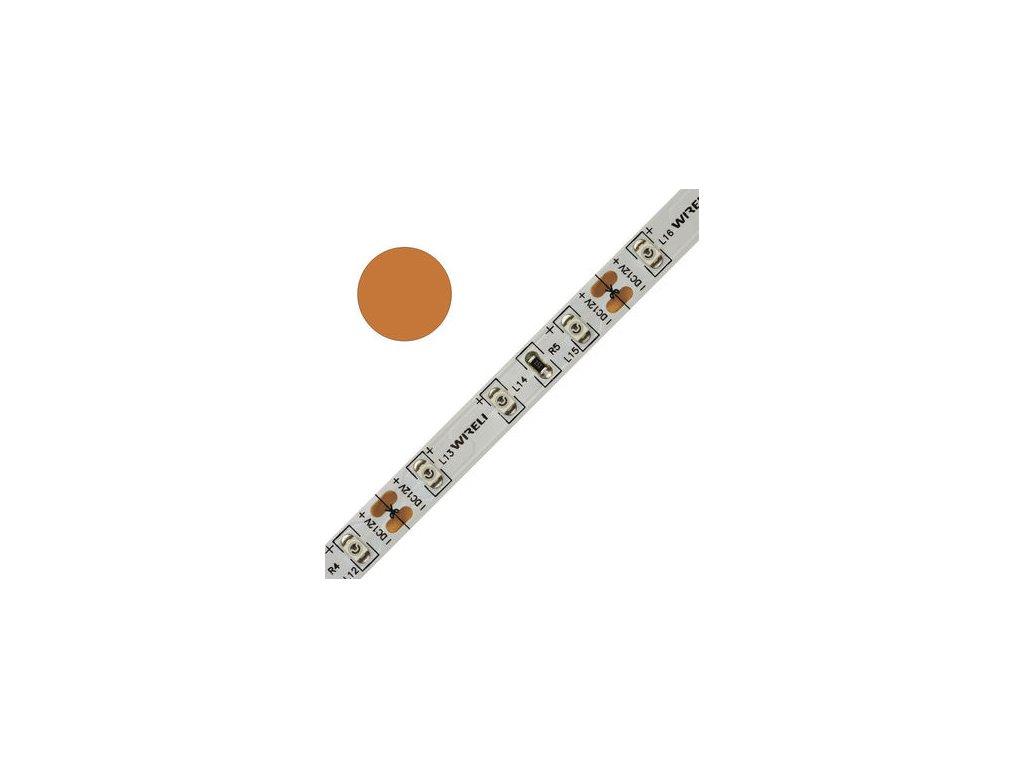 LED pásek barevný 3528 60 604nm 4,8W 0,4A 12V oranžová