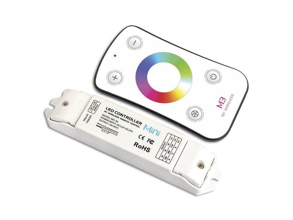 Dotykový dálkový ovladač RGB s přijímačem