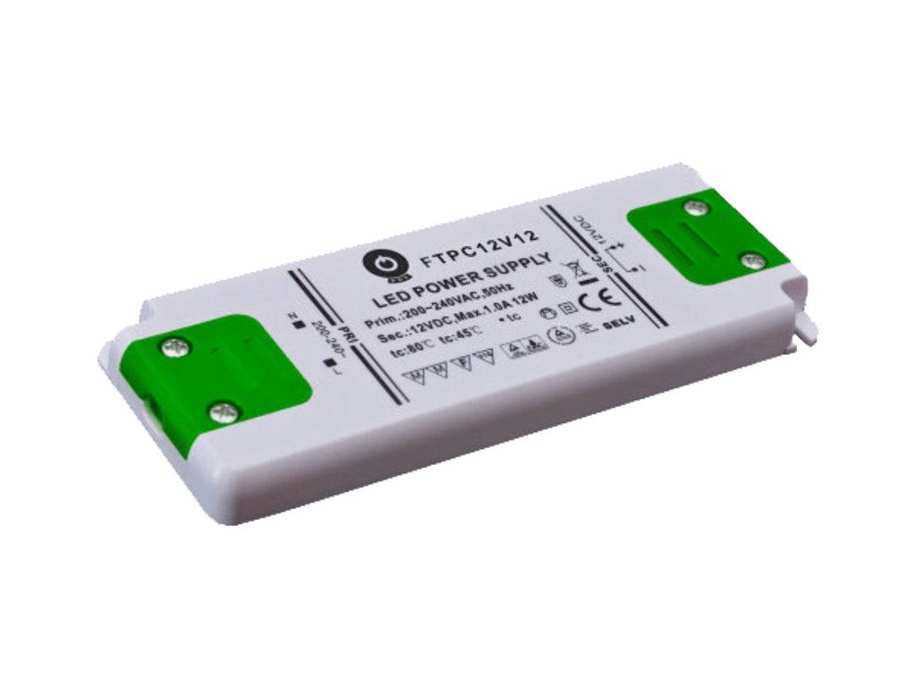 Zdroj napětí 12V 12W 1A IP20 POS POWER typ FTPC12V12 C
