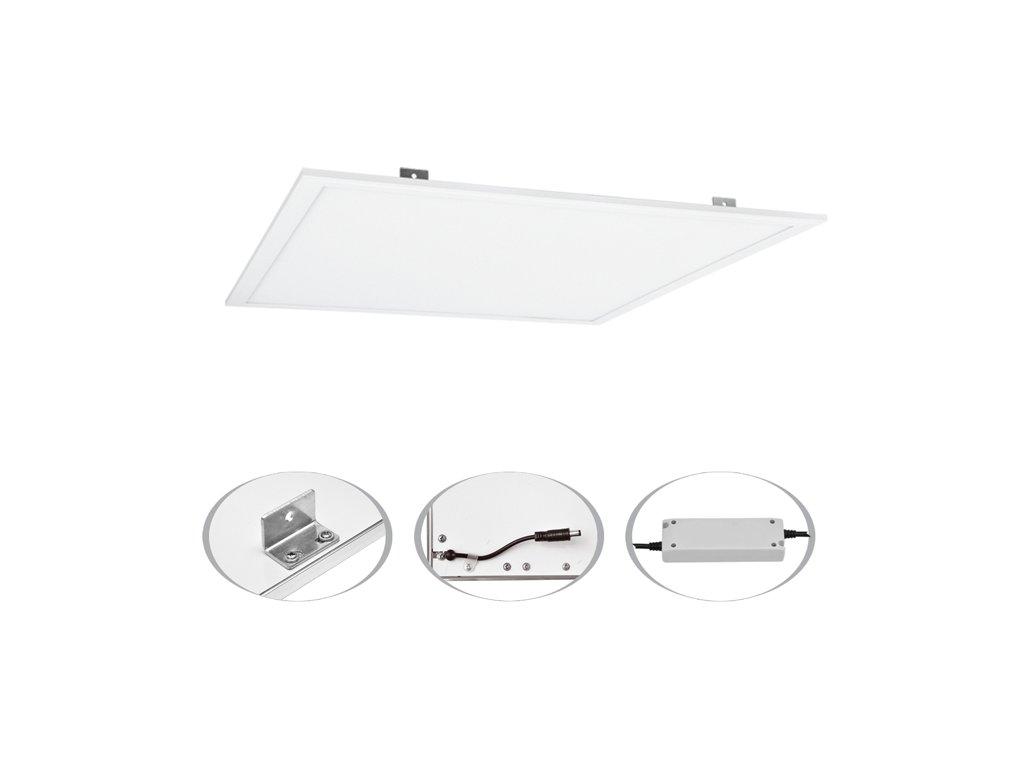 LED panel 45W,59,5cm,4000K,IP20,4600lm,Ra>90