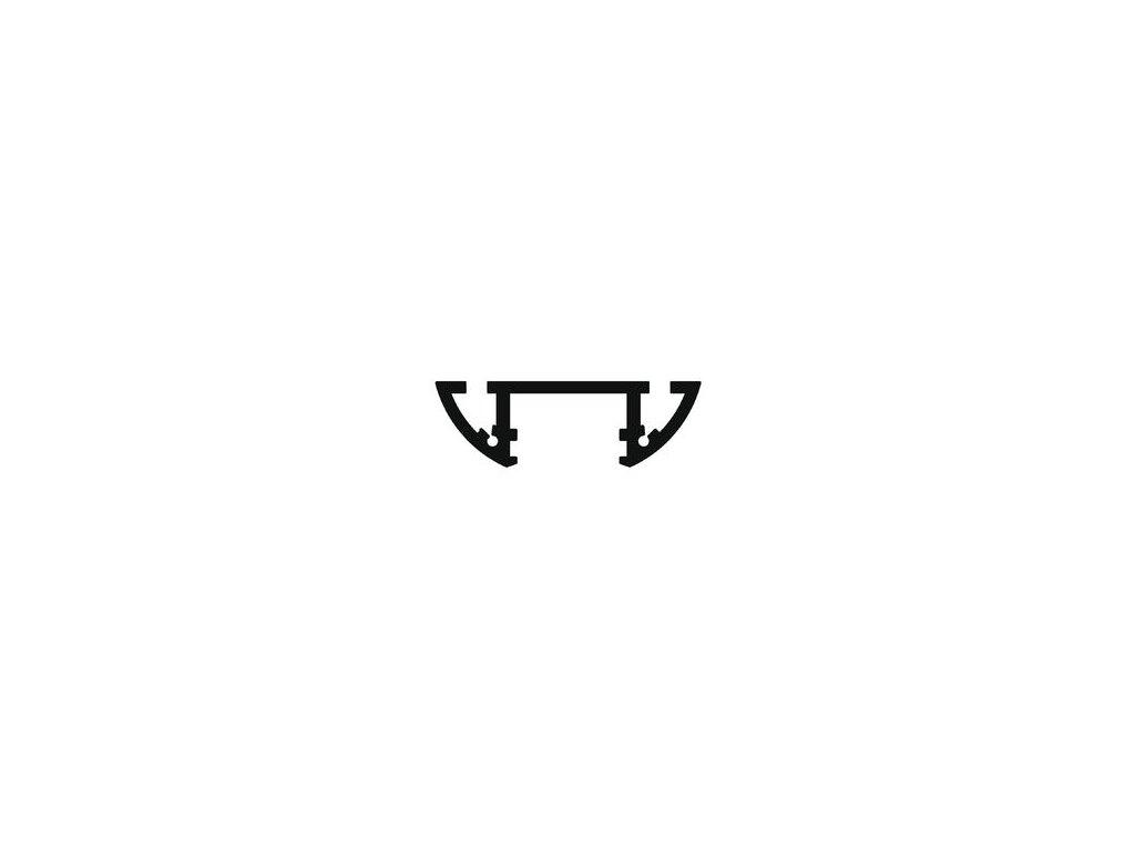 Hliníkový profil nástěnný 14 LUX POWER ALU 1m  Topmet