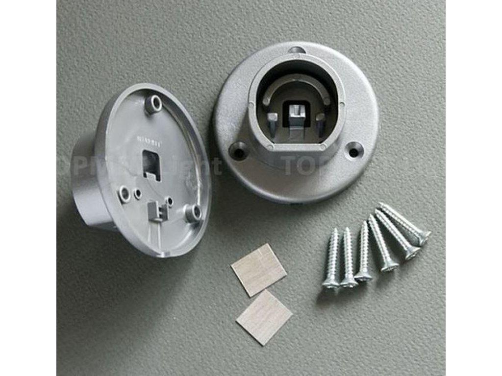 Montážní úchyt 28 OVAL20 boční plastový šedý - pár