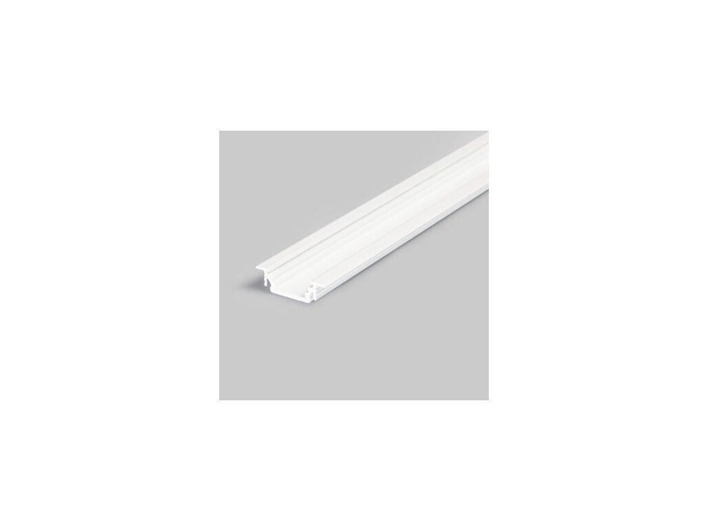 Hliníkový profil vestavný 12 GROOVE10 BC/UX bílý komaxit 1m Topmet