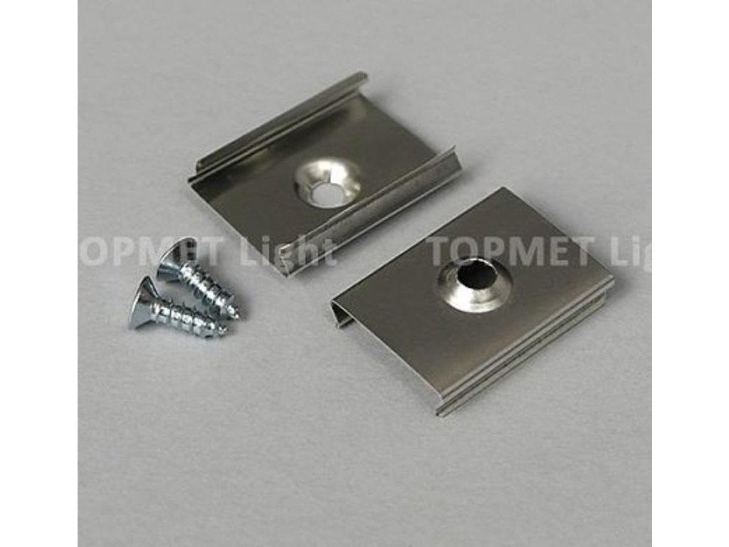 Montážní úchyt  U kulatý zahlubovaný otvor, nerez ocel (1 kus) Topmet