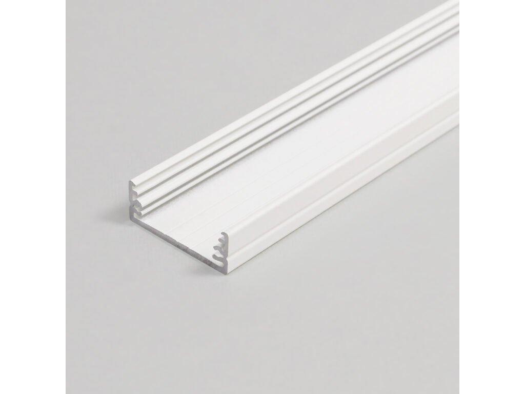 Hliníkový profil nástěnný 15 TRIPLEX WIDE24 G/W bílý komaxit 1m Topmet