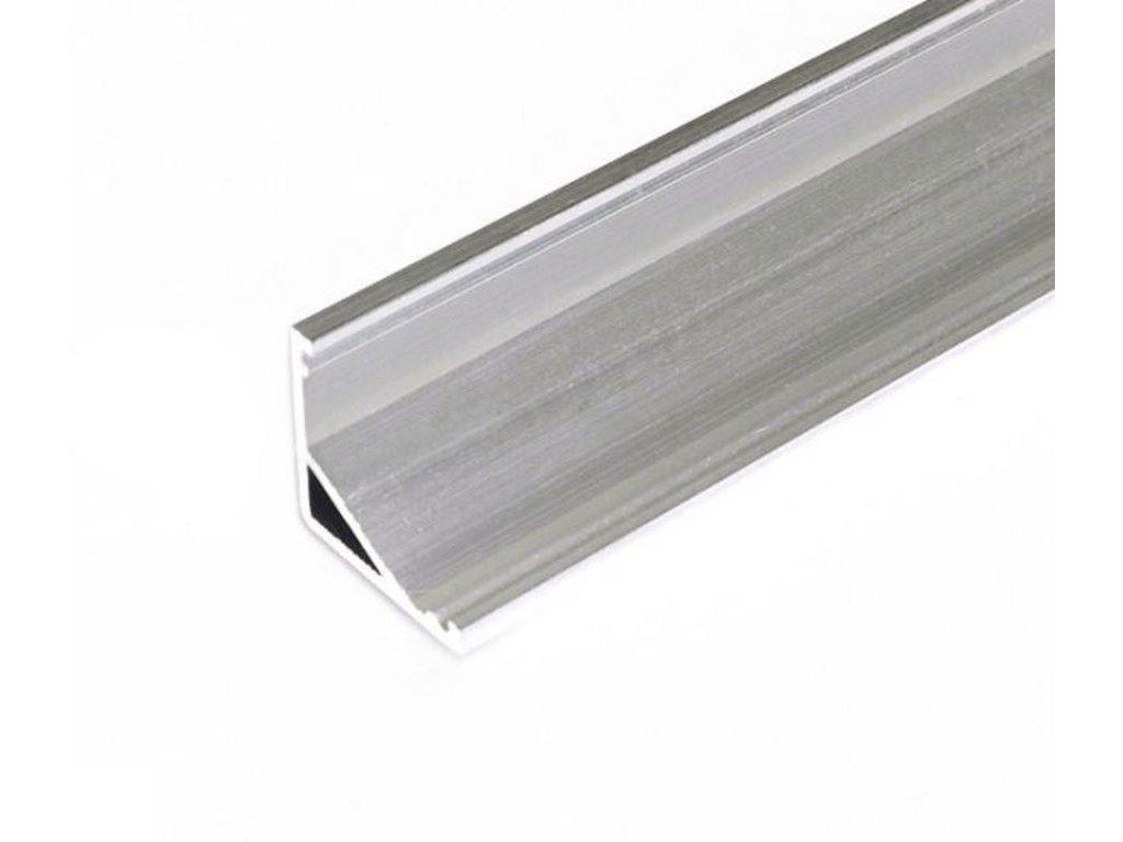 Hliníkový profil rohový CABI12 E/ hliník surový 1m Topmet