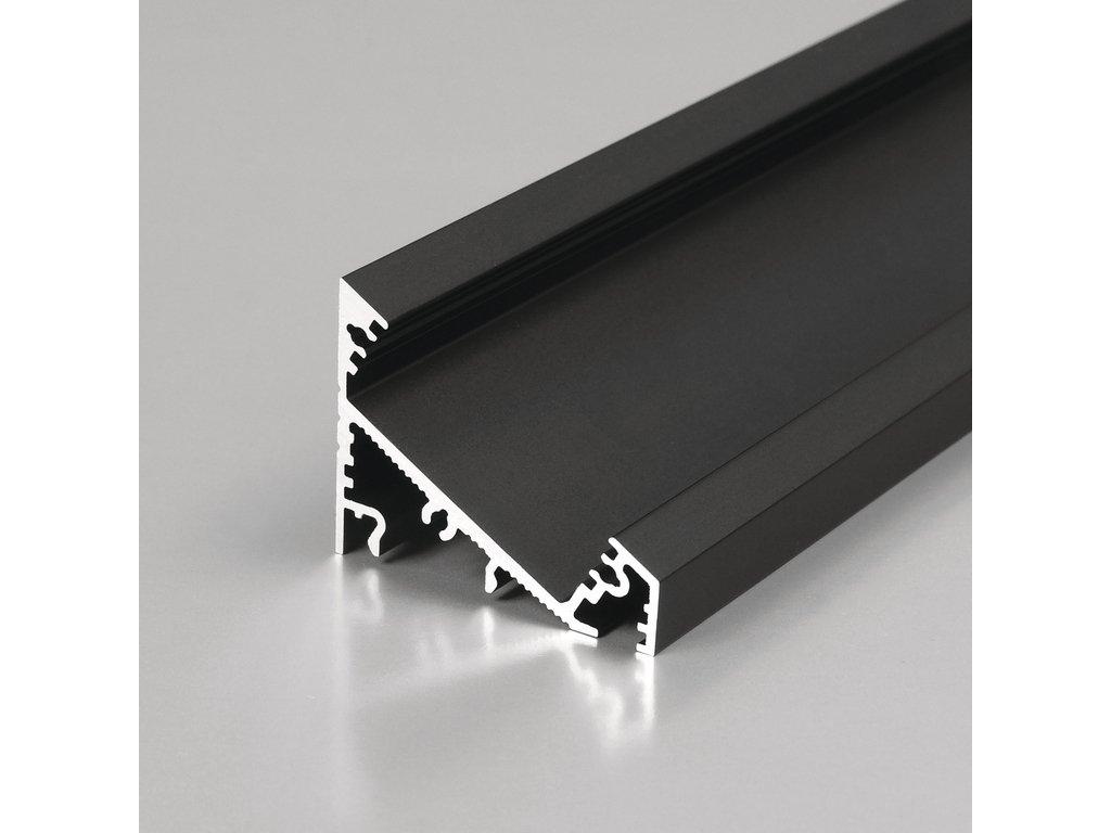 Hliníkový profil rohový CORNER27 G/UX 30/60° černá anoda 1m Topmet