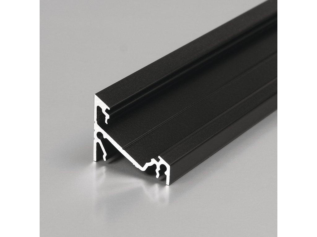 Hliníkový profil rohový CORNER14 EF/Y 30/60° černá anoda 1m Topmet