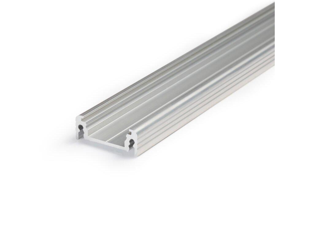 Hliníkový profil nástěnný SURFACE14 EF/Y hliník surový 1m Topmet