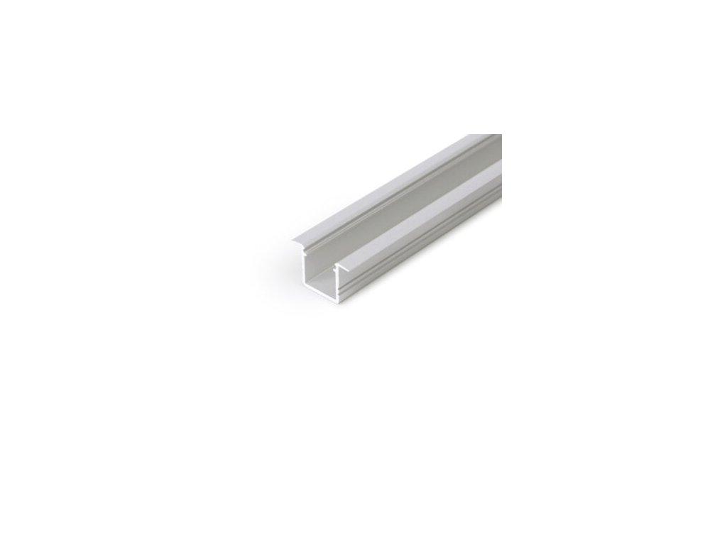 Hliníkový profil vestavný SMART-IN10 A/Z anoda, 1m Topmet