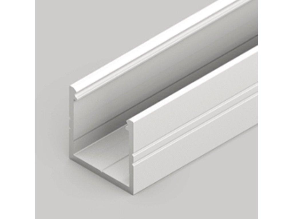 Hliníkový profil nástěnný SMART16 B/U4 bílý komaxit, 1m Topmet