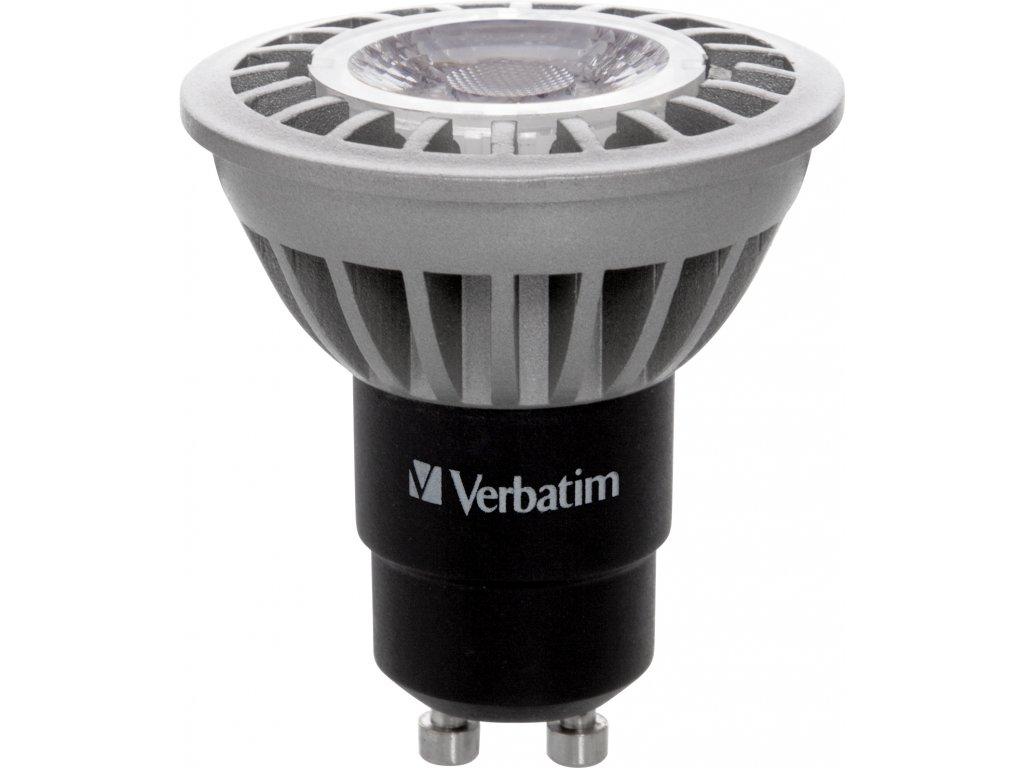 LED žárovka PAR 16, GU10, 6W, 3000K, 430LM, DIM, 35 Verbatim 52307