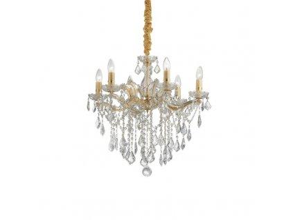 Závěsné svítidlo Ideal Lux Florian SP6 zlaté 035635