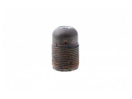 Objímka E27 kov krátký závit, černá