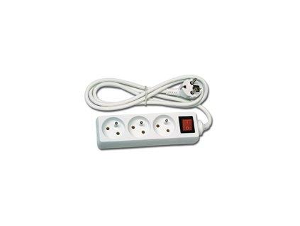 Prodlužovací kabel  3m, 3zásuvky s vypínačem Ecolite  FK3-3