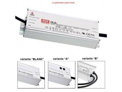 Zdroj napěťový HLG-240H-12A, vstupní napětí 230VAC, výstupní napětí 12VDC, výkon 240W