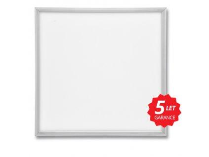 5ks LED podhledový panel ZEUS stříbrný 60x60cm 45W 4000K 4300lm Ecolite LED-GPL44-45-bal 5