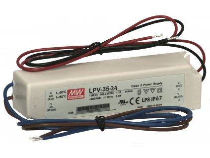 Zdroj napěťový MW-LPV-35-24, Mean Well, 35W, 24V