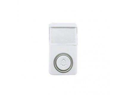 Bezdrátové bezbateriové tlačítko pro 1L64, 120m, bílé, learning code Solight 1L64T