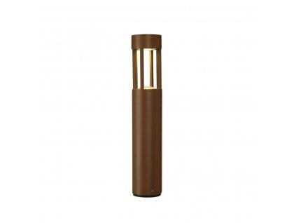 Stojací lampa SLOTS 45, rezavá barva 6,3 W LED, teplá bílá