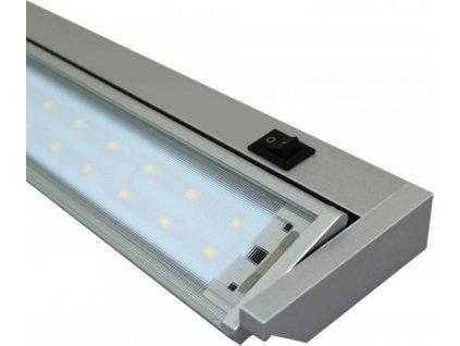 GANYS kuchyňské LED svítidlo 10W 58cm stříbrné Ecolite TL2016-42SMD/10W