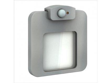 Světlo LED MOZA s čidlem, pod omítku, 14Vss, IP20, HLINÍK, BÍLÁ