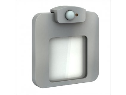 Světlo LED MOZA s čidlem, pod omítku, 14Vss, IP20, HLINÍK, TEPLÁ BÍLÁ