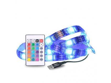 LED RGB pásek pro TV, 2x 50cm, USB, vypínač, dálkový ovladač Solight WM504