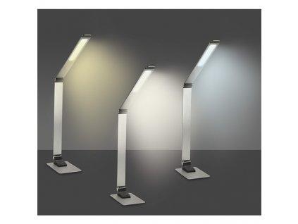 LED stolní lampička stmívatelná, 11W, broušený hliník Solight WO51-S