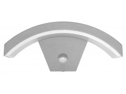 Venkovní nástěnné LED svítidlo STYL 2 šedé  8W se senzorem Ecolite Z1107/PIR-SED