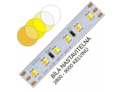 CTA LED pásek 3014 240 WIRELI 2x1000lm 19,2W 0,8A 24V (variabilní bílá)
