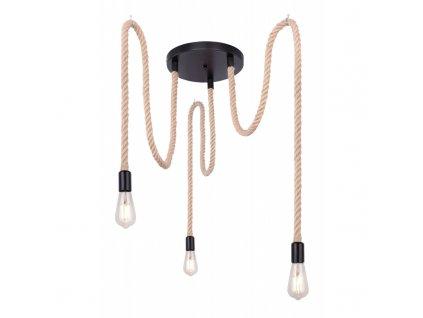 Závěsné svítidlo ULLEU lano 3x E27 160cm
