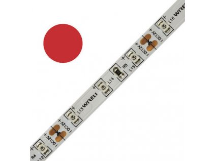 LED pásek barevný 3528 60 625nm 4,8W 0,4A červená