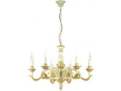 Závěsné svítidlo Ideal Lux Giglio SP6 zlaté 075327
