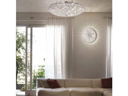 Závěsné svítidlo Ideal Lux King SP12 chrom 088013