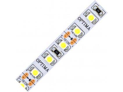 LED pásek 3528 120 Optima 720lm 9,6W  0,8A 12V CRI>80  bílá studená 6000K