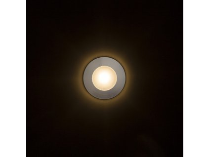 CLUB zápustná stříbrnošedá 230V LED 3W IP54 3000K - RED - DESIGN RENDL