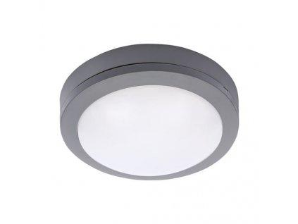 LED venkovní osvětlení kulaté, šedé, 13W, 910lm, 4000K, IP54, 17cm Solight WO746