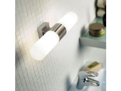 Koupelnové svítidlo Tangens 2x E14 (kartáčovaná ocel) 17141032