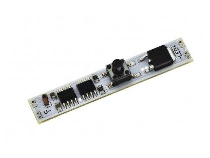Vypínač a stmívač pro LED do lišty s tlačítkem 9x51mm délka, 144W, 12V/24V