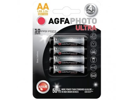 AgfaPhoto Ultra alkalická baterie Solight AP-LR06U-4B LR06/AA 1,5V, 4ks v balení