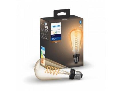 Hue Bluetooth LED White žárovka Filament E27 8719514279179 7W 550lm 2100K ST72 IP20