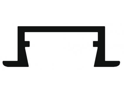 Hliníkový profil vestavný 02 anoda 1m Topmet