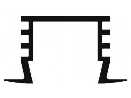 Hliníkový profil vestavný PDS4-K anoda 1m Topmet