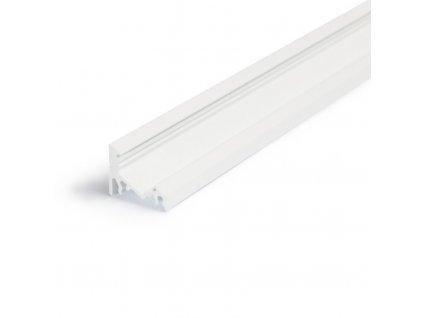 Hliníkový profil rohový 60 CORNER10 BC/UX bílý komaxit 1m Topmet