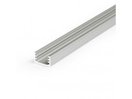 Hliníkový profil přisazený/vestavný 25 SLIM8 A/Z hliník surový 1m Topmet