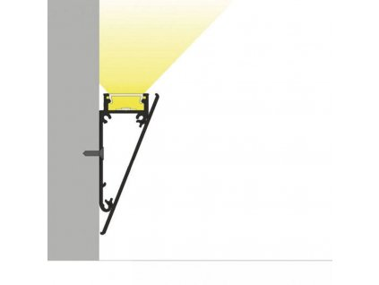 Hliníkový profil speciální WALLE12 B1 vnější kryt hliník anoda 1m Topmet