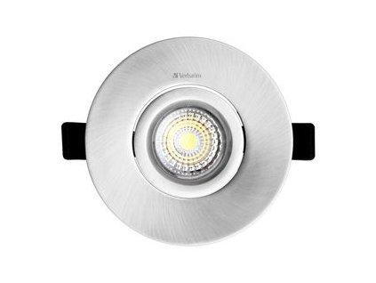 LED podhledové svítidlo Downlight, 12W stříbrné Verbatim